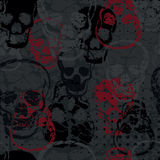 Colored horror skull seamless pattern Stock Photo