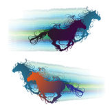 Colored horse Stock Photos