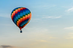 Colored hot air balloon Royalty Free Stock Photos