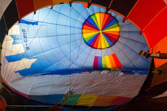 Colored hot air balloon Royalty Free Stock Images