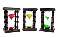 Colored hourglass Stock Photos