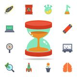 colored hourglass icon. Detailed set of colored science icons. Premium graphic design. One of the collection icons for websites, stock illustration