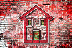 Colored house Stock Photo