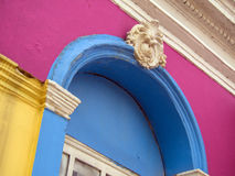 Colored house facade Royalty Free Stock Image