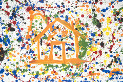 Colored house Royalty Free Stock Images