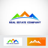 Colored house real estate logo Stock Image