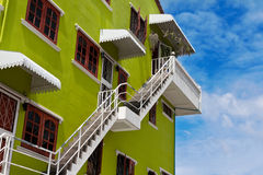 Colored house in the sky Royalty Free Stock Photography