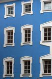Colored House and Windows in Lienz Stock Images