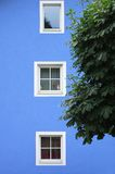 Colored House and Windows in Lienz Stock Image