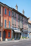 Colored houses. Castelleone village with colored houses, Cremona, Italy Stock Image