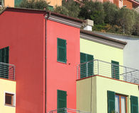 Colored houses Stock Photos