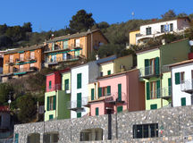 Colored houses Royalty Free Stock Image
