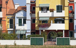 Colored houses Royalty Free Stock Photo