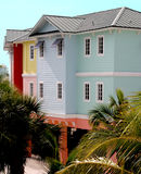 Colored houses. Colored property in Fort Myers royalty free stock photo