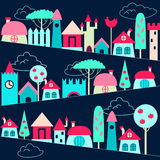Colored houses background Stock Photography