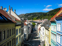 Colored houses in Bergen, Norway royalty free stock photos