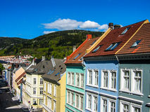 Colored houses in Bergen, Norway stock image