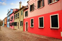 Colored houses of Burano Stock Photo