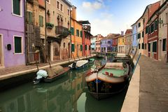 Colored houses of Burano Stock Photography