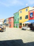 Colored houses Burano Royalty Free Stock Image