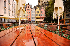 Colored houses of Cologne, Germany Stock Image