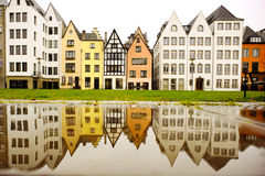 Colored houses of Cologne, Germany Stock Photos