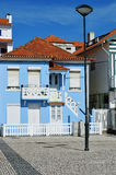 Colored houses, Costa Nova, Beira Litoral, Portugal, Europe Royalty Free Stock Photo