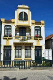 Colored houses, Costa Nova, Beira Litoral, Portugal Royalty Free Stock Image