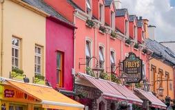 Colored houses facades Stock Photos