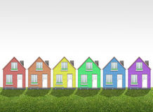Colored houses Stock Image