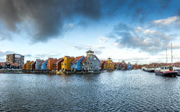 Colored houses in Groningen Stock Image