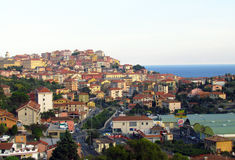 Colored houses on the Italian coast. Npicturesque colorful houses on the Italian coast stock photography