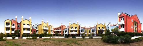 Colored houses Royalty Free Stock Photos