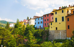Colored houses Stock Images