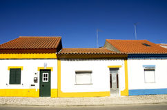 Colored houses at Portugal. Stock Image