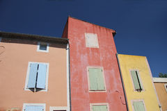 Colored houses in Roussillon Royalty Free Stock Image