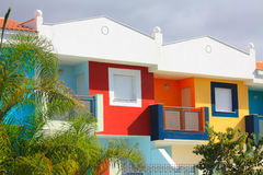 Colored houses in Tenerife Stock Photos