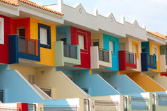 Colored houses in Tenerife Stock Images