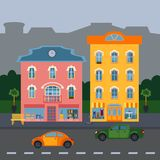 Abstract colored houses stock illustration