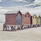 Colored huts Stock Photography