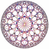 Colored hyperbolic tessellation Royalty Free Stock Images