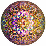Colored hyperbolic tessellation Stock Photography