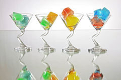 Colored Ice Royalty Free Stock Photography