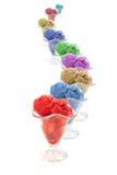 Colored ice cream Stock Photos