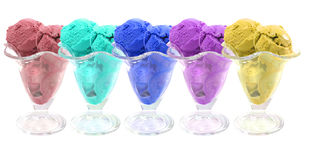 Colored ice cream Royalty Free Stock Photo