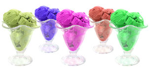Colored ice cream Royalty Free Stock Photography
