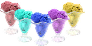 Colored ice cream Stock Photography