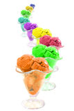 Colored ice cream Stock Photo