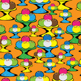 Colored ice cream seamless pattern Stock Images