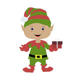Colored icon baby elf gnome on a white background. Royalty Free Stock Photo